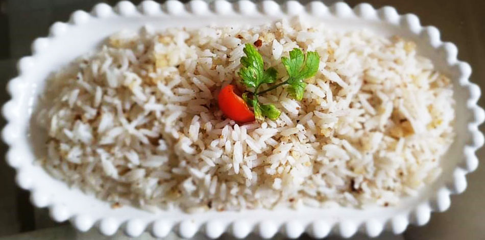 rice with brazilian nuts