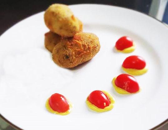 potato meat croquette